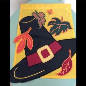 Pilgrim Hat 🍁Falling Leaves 🍂 Outdoor Mini Flag